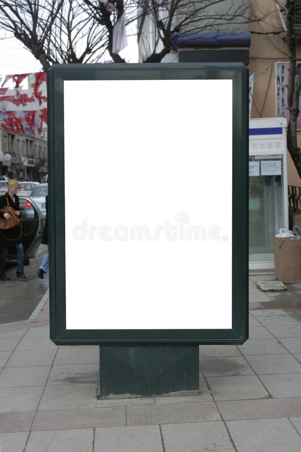 Download Blank One Vertical Poster Billboard - Including Cl Stock Photo - Image: 9000252