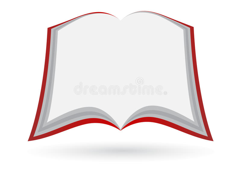 Blank open book. Illustration of blank open book design isolated on white background