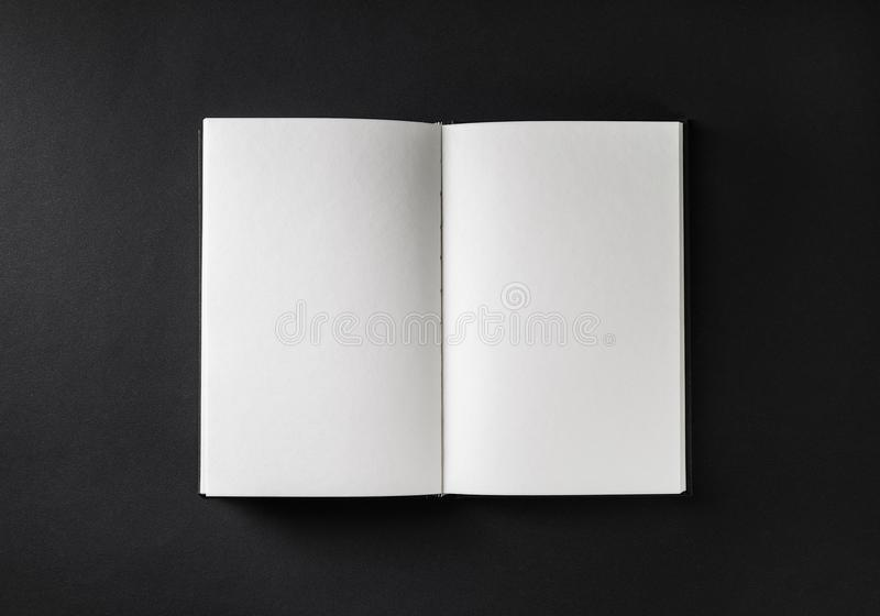 Blank open brochure royalty free stock images