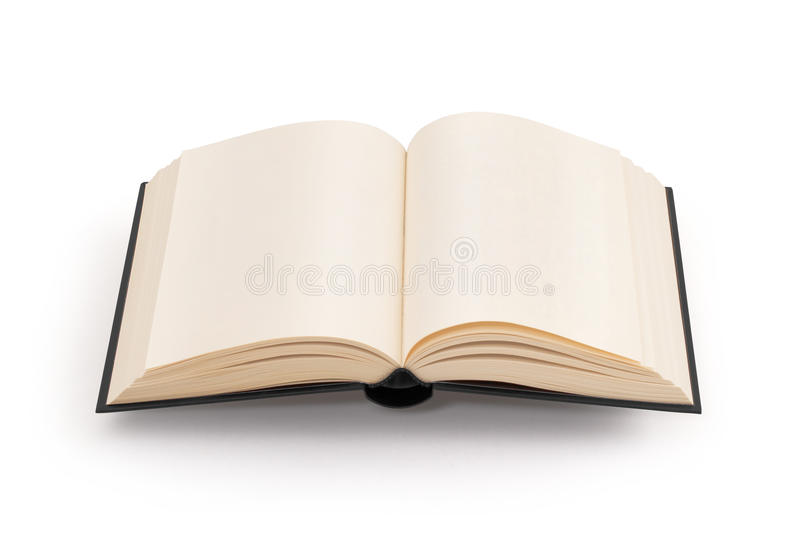 Blank open book - clipping path stock photography