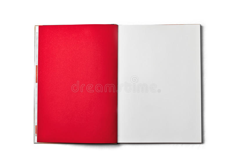 Blank open book isolated on white background. Front view. royalty free stock photo