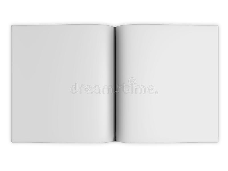 Blank open book pages royalty free illustration