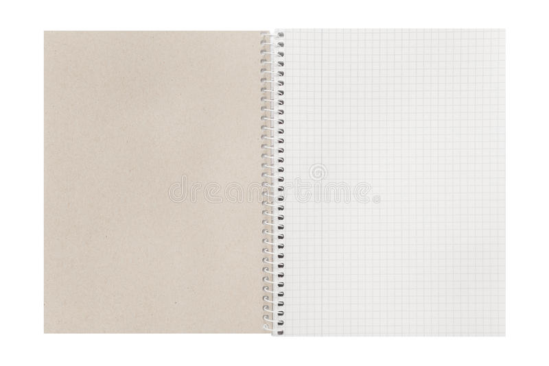 Blank open checked book. Blank open checked paper book royalty free stock photos
