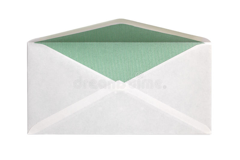 Blank open envelope royalty free stock photo
