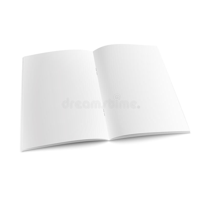 Free Blank Open Magazine Template With Staples. Stock Photography - 64911912