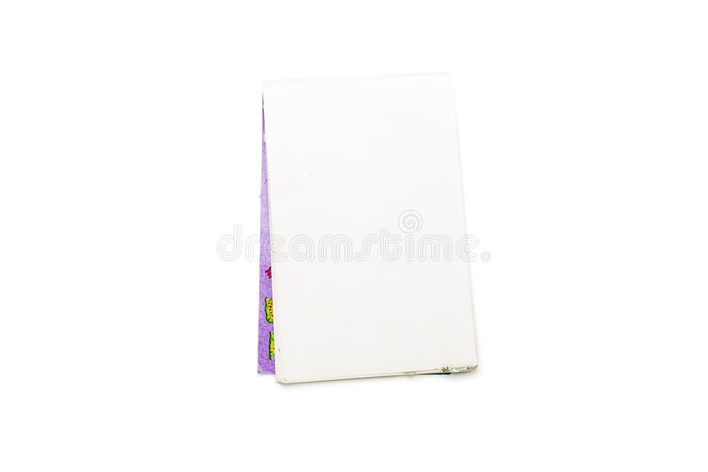 Download Blank Open Note Pad With Purple Cover Stock Photo - Image: 39993282