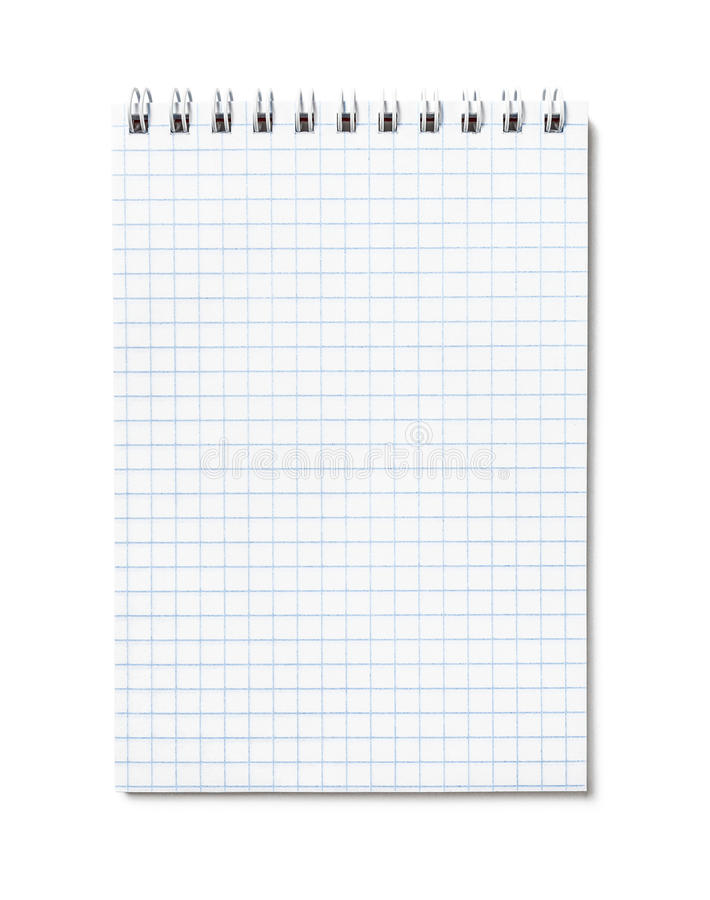 Blank open notepad stock image