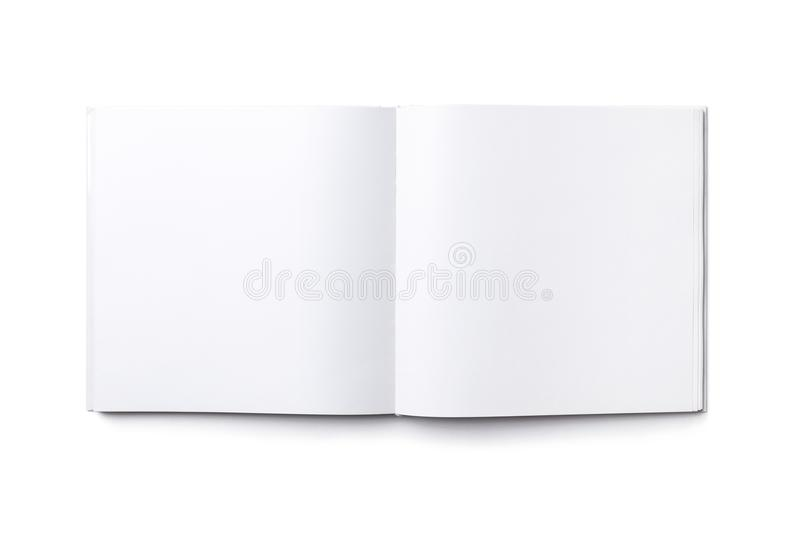 Blank open square book isolated royalty free stock images