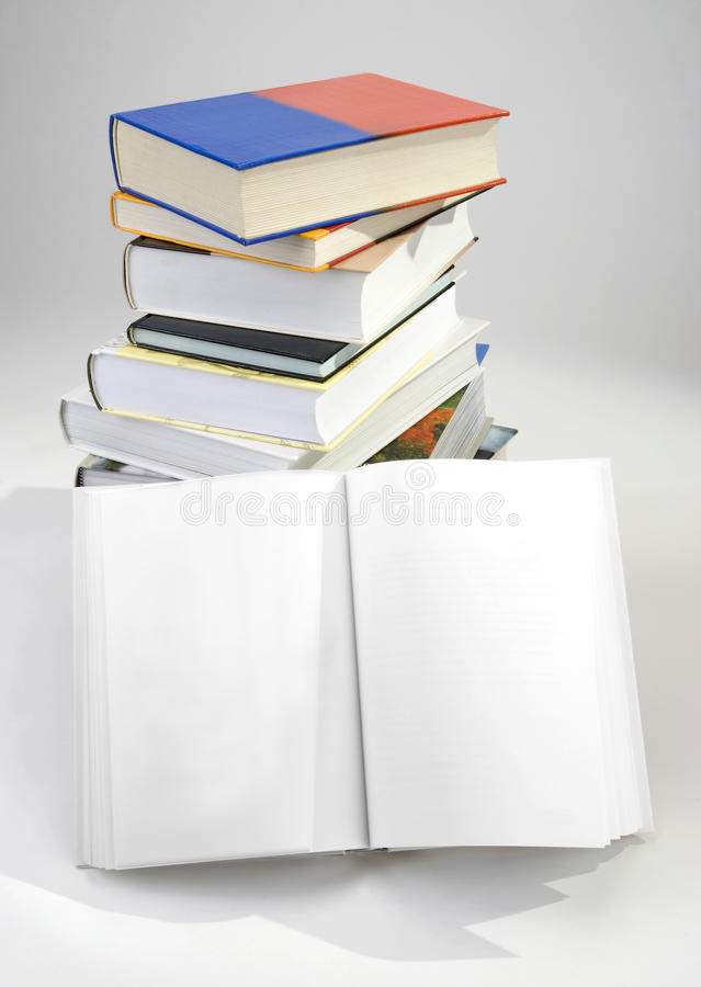 Blank Opened Book Stock Photography