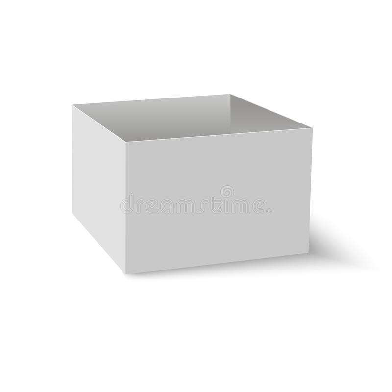 Blank of opened box with soft shadow. Vector. vector illustration