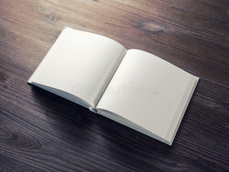 Blank opened brochure stock photos