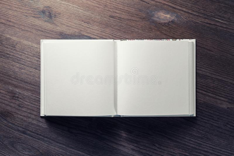 Blank opened brochure royalty free stock images