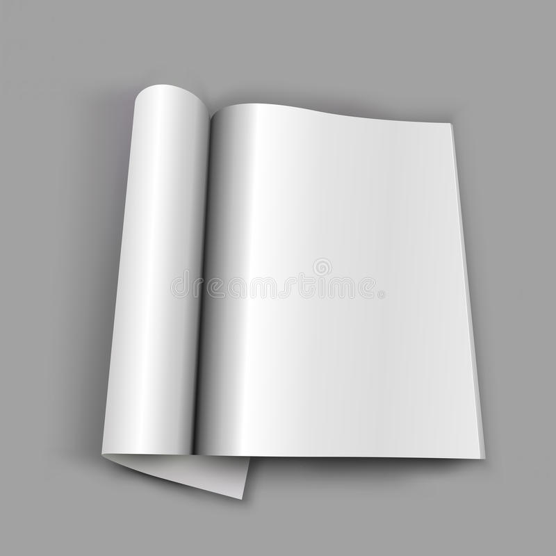 Blank Opened Magazine Stock Photography