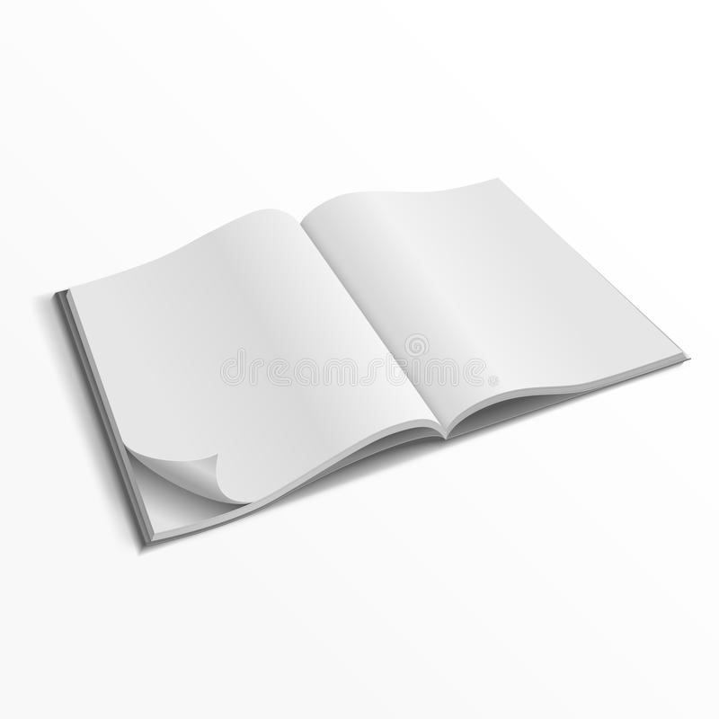 Blank opened magazine cover vector template stock illustration