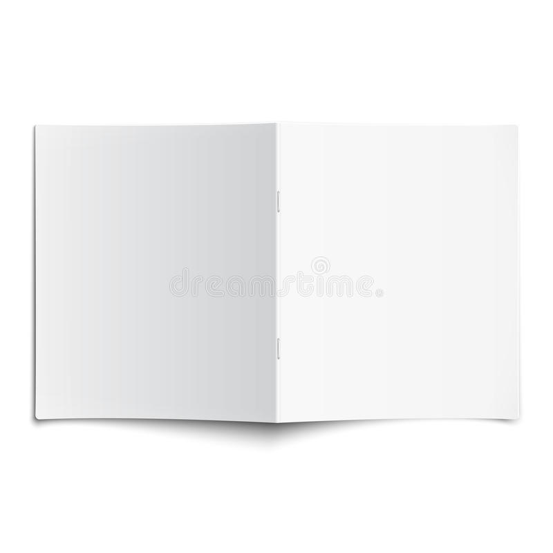 Blank opened magazine template with soft shadows. royalty free illustration