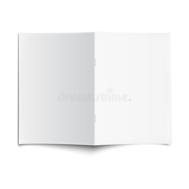 Blank Book Cover Vector Illustration Free : Blank opened magazine template with soft shadows stock