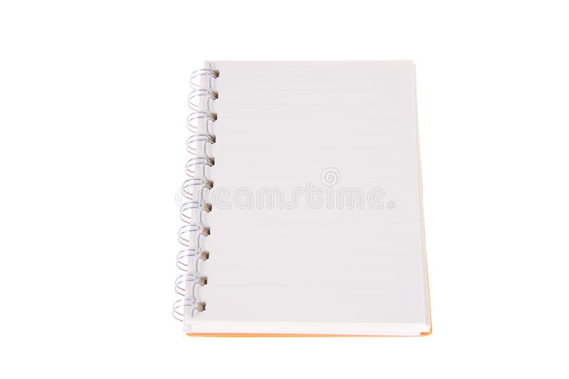 Blank opened notebook with lined papers royalty free stock images