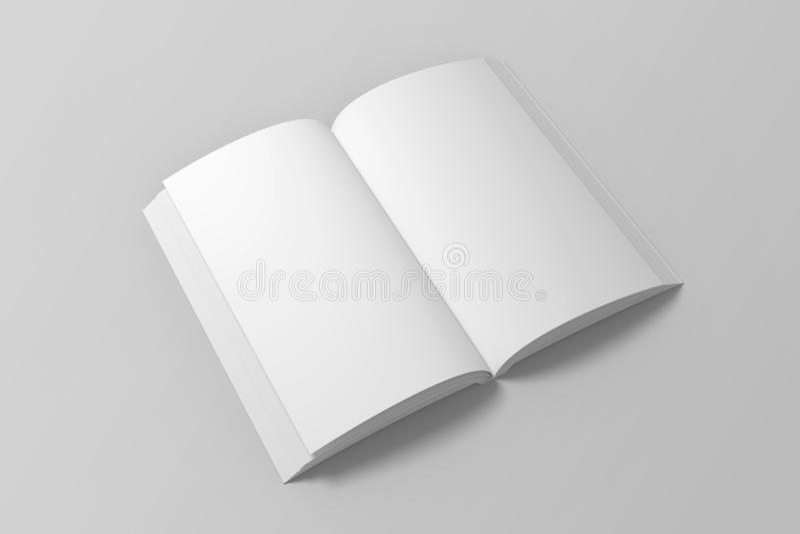 Blank opened 3D illustration of book mock up. vector illustration