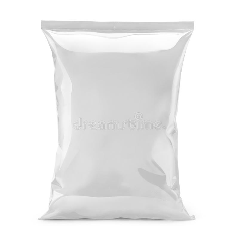 Free Blank Or White Plastic Bag Snack Packaging Isolated On White Royalty Free Stock Image - 65272866