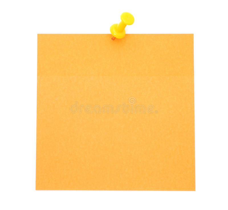 Blank orange post-it note stock images