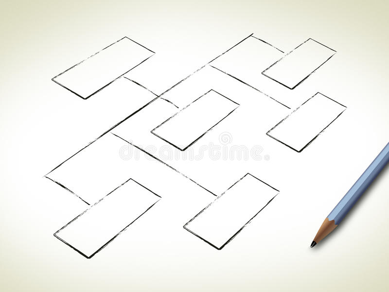 Blank Organization Chart Stock Illustration Illustration Of