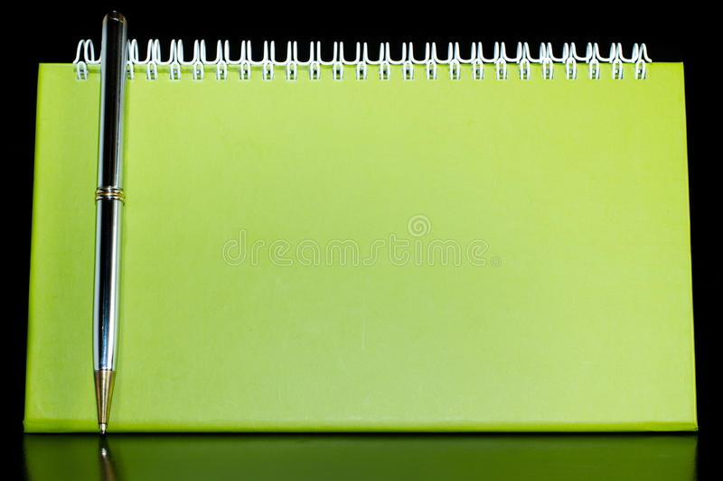Blank organizer with pen royalty free stock images