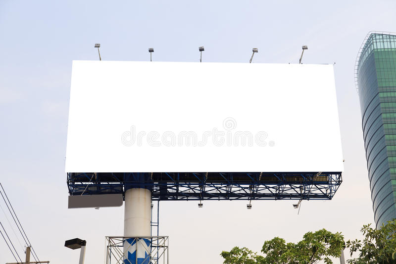 Blank outdoor billboard stock image