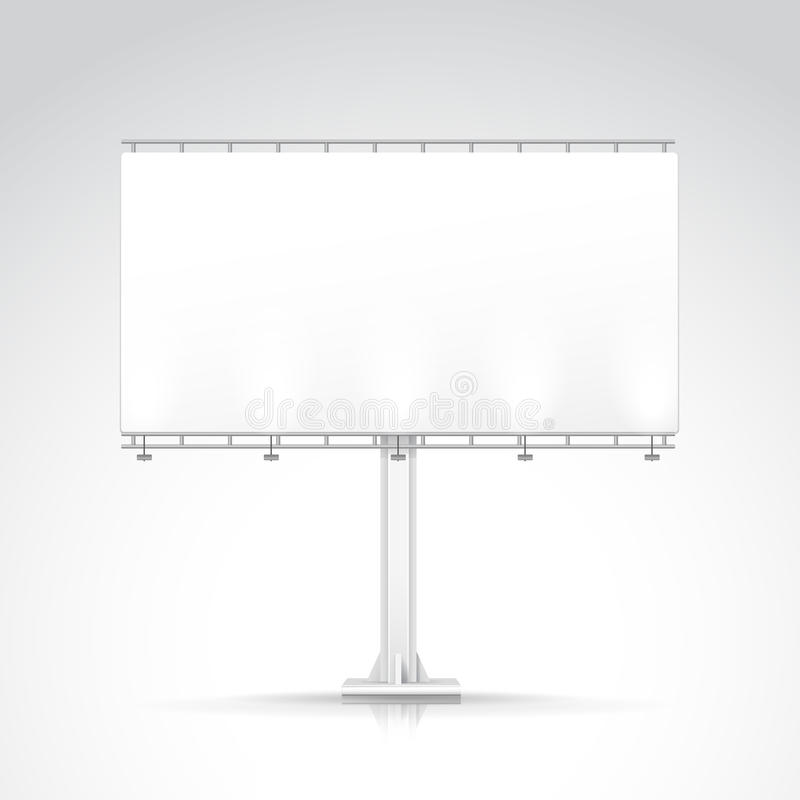 Blank Outdoor Billboard with Place for Message royalty free illustration