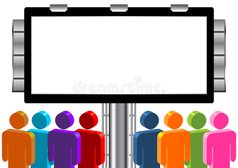 Download Blank outdoor with people stock vector. Illustration of marketing - 8479559