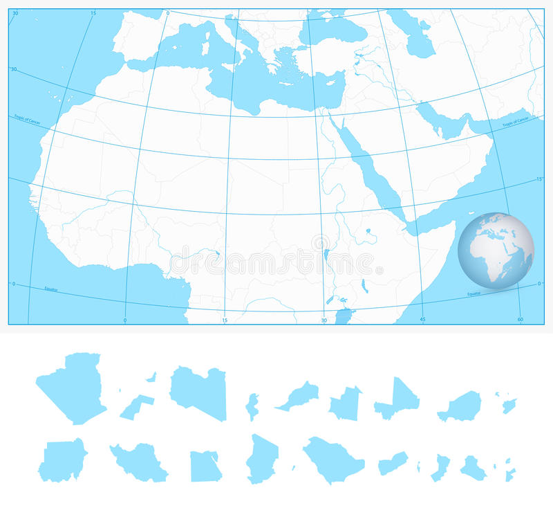 Blank outline map of northern africa and the middle east stock image download blank outline map of northern africa and the middle east stock image image of gumiabroncs Images