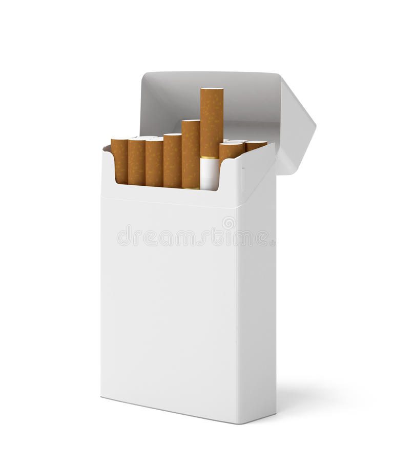 Download Blank pack of cigarettes stock illustration. Image of danger - 28697032