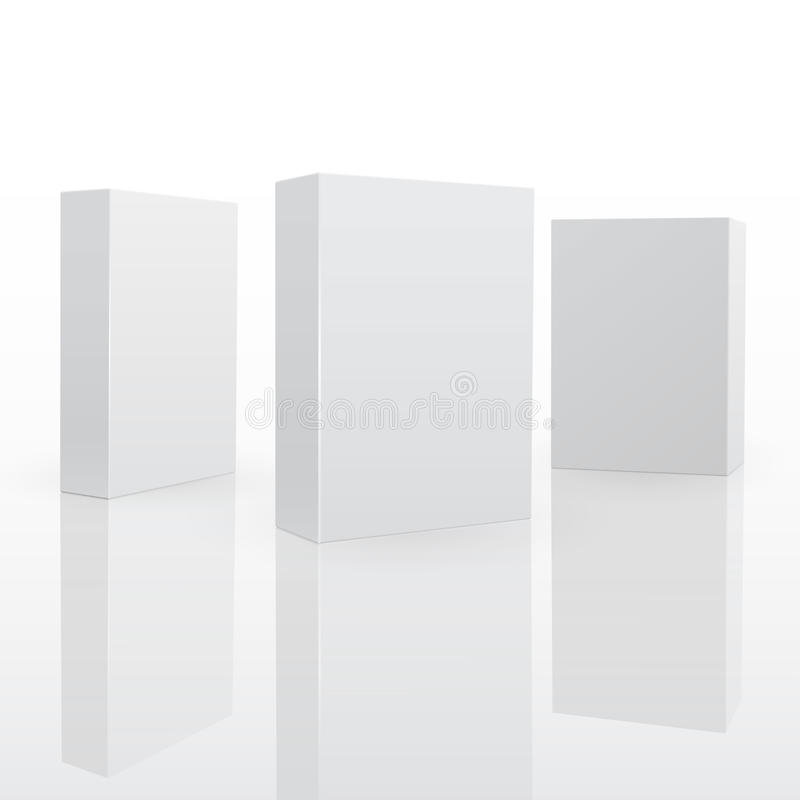Blank Pack Fo Software Or Other Product. Royalty Free Stock Images