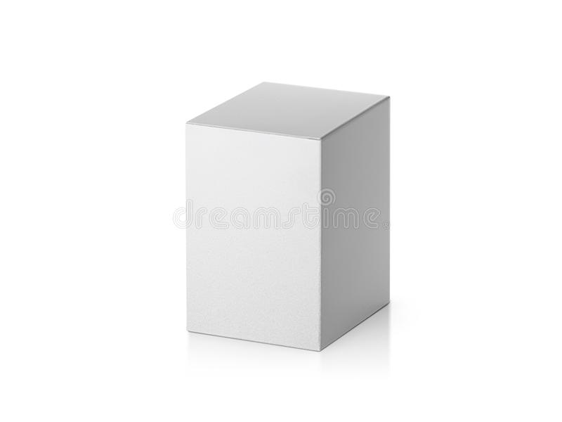 Blank packaging paper box isolated on white background stock illustration