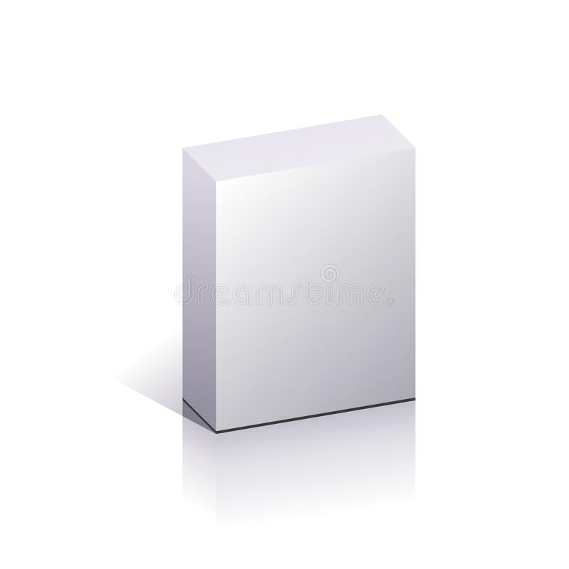 Blank packing. Blank 3d boxes. Vector illustration in white and gray vector illustration