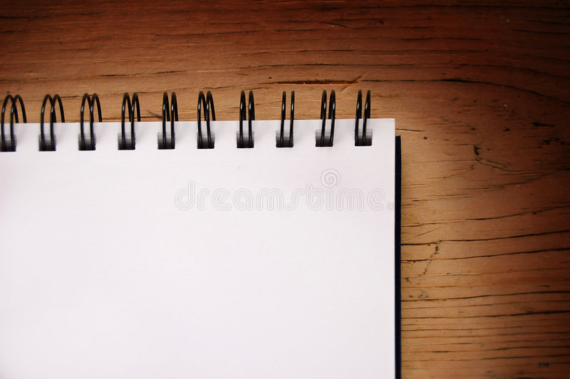 Blank Pad on Table stock images