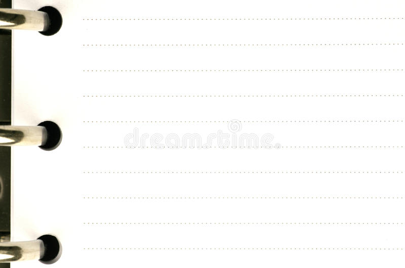 Blank Page Of An Agenda Royalty Free Stock Photos