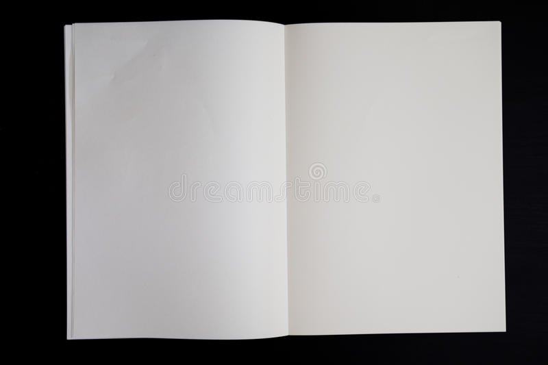 Blank page book stock images
