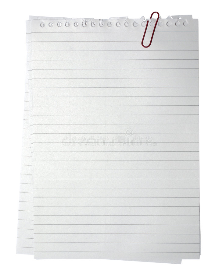 Free Blank Page Note Paper Empty Isolated On White Background Document Note Pad Notebook Book Message Notepad Reminder Memo Sheet Lined Royalty Free Stock Images - 6912399