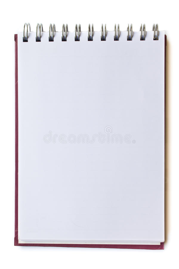 Download Blank page notebook stock image. Image of diary, information - 16762225