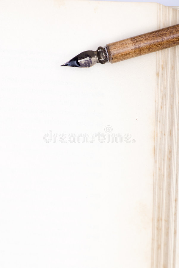 Blank page and pen