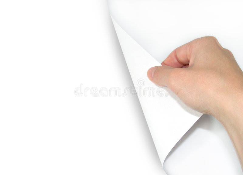 Blank Page Turning Royalty Free Stock Photos