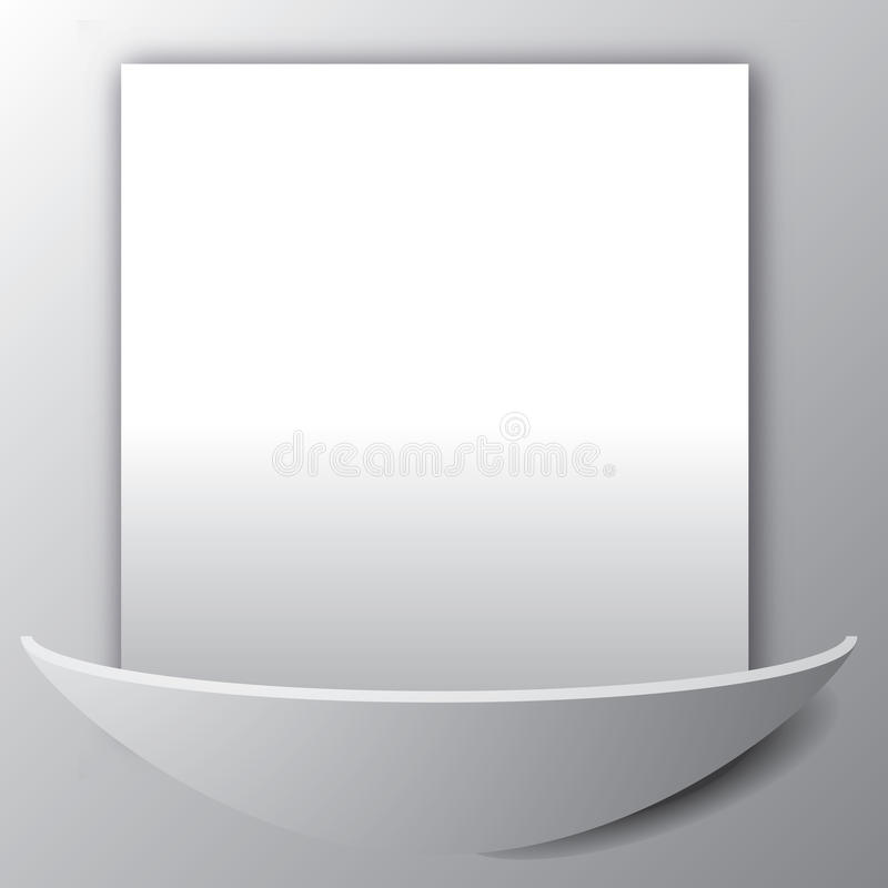Blank Page On Wall Royalty Free Stock Photos