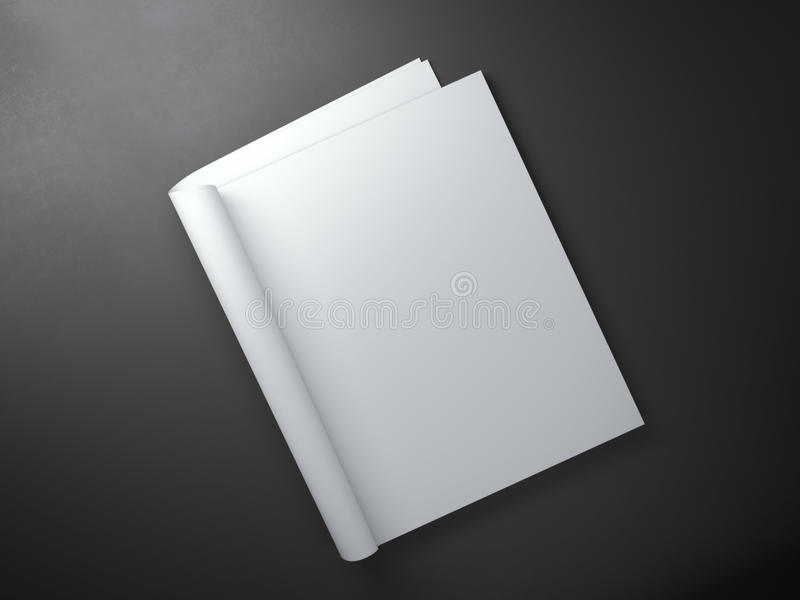 Blank pages inside of journal magazine. Blank white pages inside of journal magazine royalty free stock image