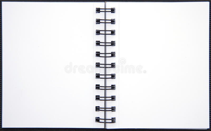 Blank pages from a note book. Two blank pages from a note book vector illustration