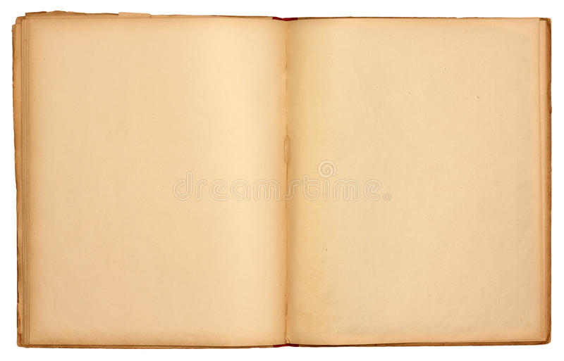 Blank Pages Old Open Book stock images