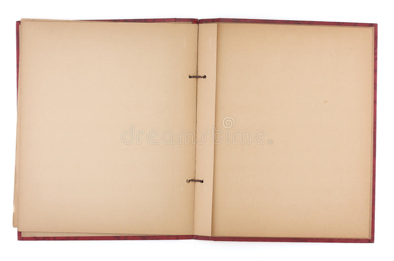 Download Blank Pages Of An Old Scrap Book Stock Image - Image: 15176657