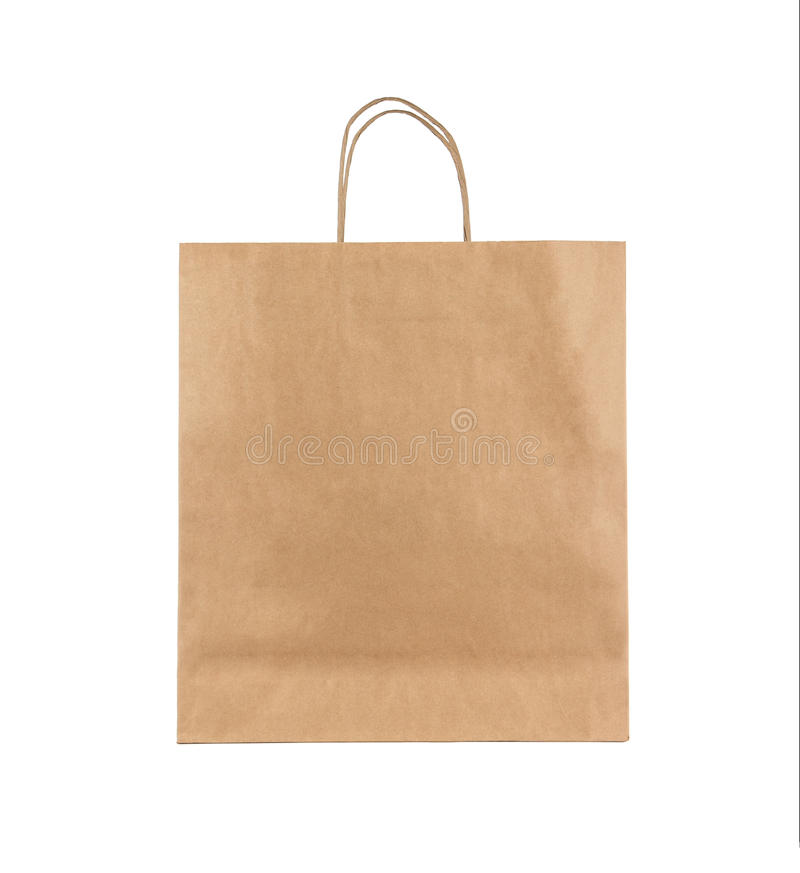 Blank paper bag royalty free stock photos
