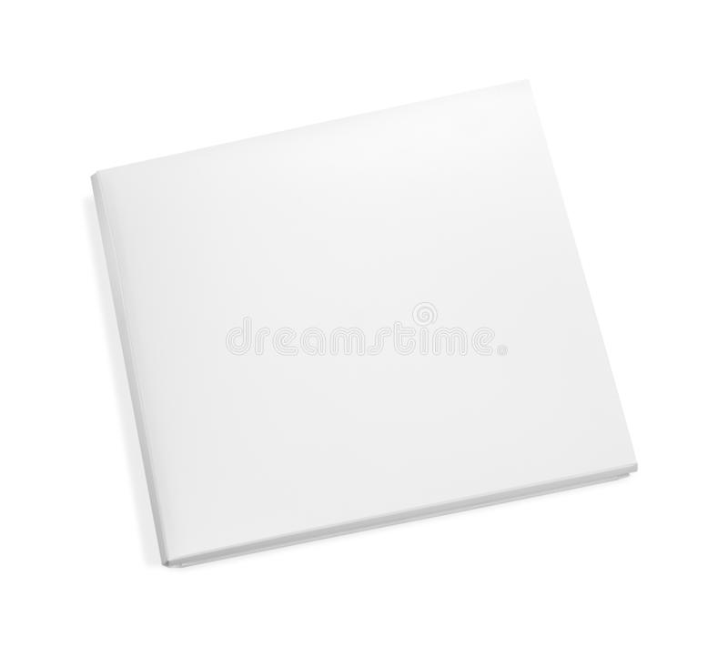 Blank paper box isolated on white background. Empty cardboard package for design. Clipping pat royalty free illustration