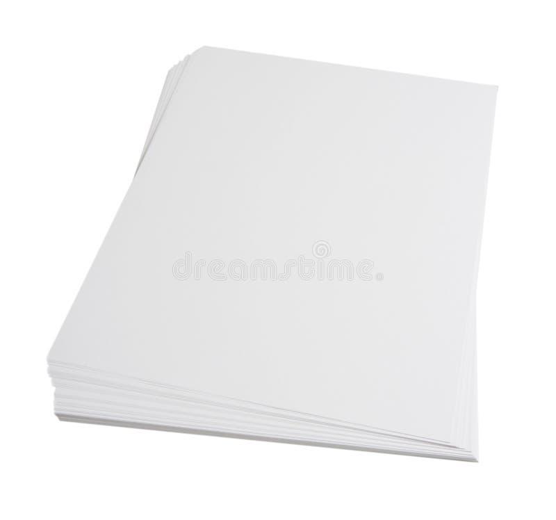 blank paper bunt royaltyfria foton