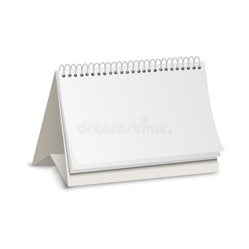 Blank paper calendar vector illustration